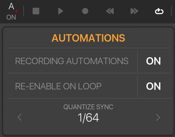 How to record automations from an Audio Units plugin into